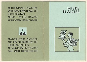 Business card Mieke Plaizier