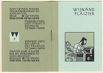 Business card Wijnand Plaizier