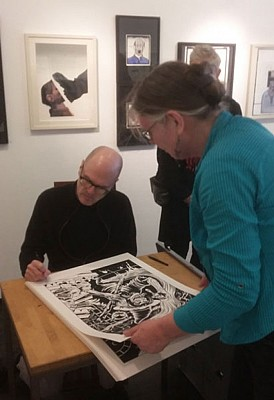 Charles Burns signing