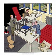 A portrait of Gerrit Rietveld