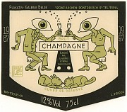 Wine label Champagne